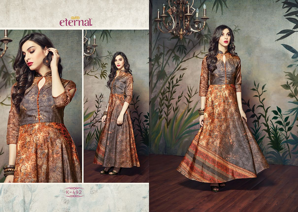 ETERNAL SILKMODE GOWNS WHOLESALE.WWW.SAHILFASHION.COM